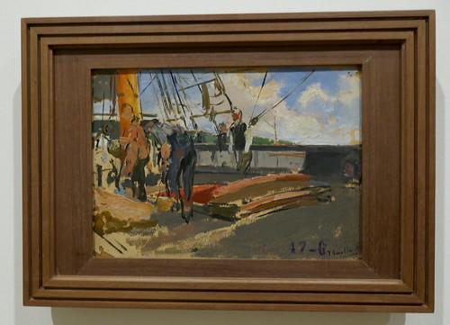 """""""Buque mercante"""",  1899, Joaquín Sorolla y Bastida (1863-1923), Musée des Beaux-Arts, Bilbao, Biscaye, Pays basque, Espagne."""