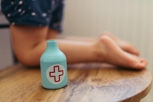 Applying medicine to children