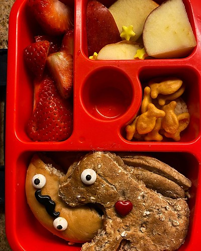 #kvpkitchen Peanut butter jelly time. Peanut butter jelly time. Amazing how you can transform a kid's lunch with candy eyeballs and hearts. What do you pack for lunch? #peanutbutter #jelly #peanutbutterandjelly