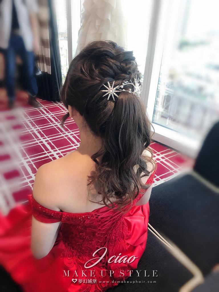 【新秘婕喬】bride智涵 訂婚造型 / 氣質高馬尾