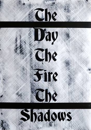 Zavier Ellis 'The Day The Fire The Shadows', 2020 Acrylic on digital gloss print 42x29.7cm