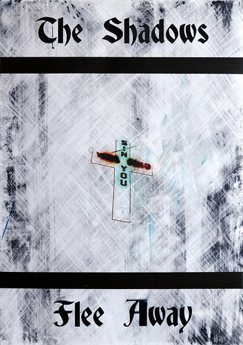 Zavier Ellis 'And the Shadows Flee Away (Sin) I', 2020 Acrylic on digital gloss print 42x29.7cm