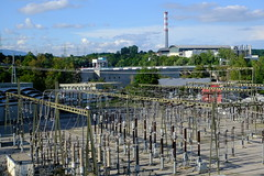 Electrical transformers for the Barrage de Verbois @ Teppes de Verbois @ Russin @ Geneva