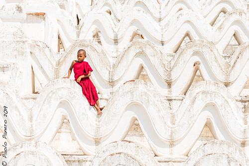 Detail of the Myatheindan Pagoda, near Mandalay, Burma.