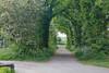 Doorway to green-belt