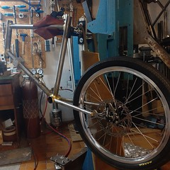 Strange things are happening in the workshop #ccycles #minivelo #20inch