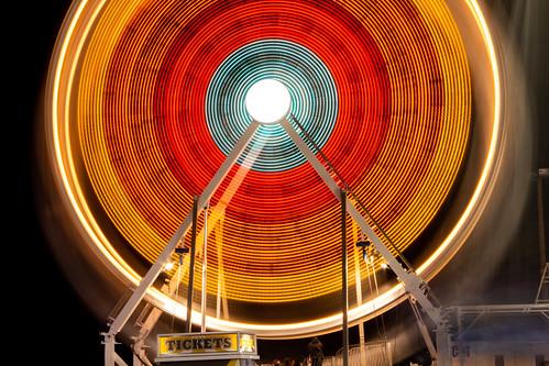 Ferris Wheel Long Exposure - Carnival at Night