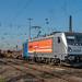 Oberhausen West Locon 187 309 met lege containerwagens