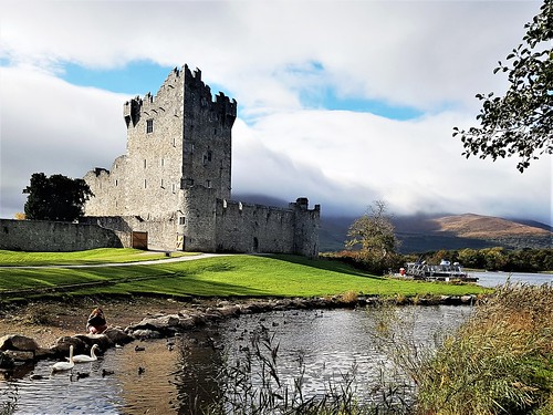 Ireland, Killarney, Ross Castle - the castle tower