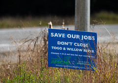 Togo and Willow River Correctional Facility Closure - AFSCME Signs