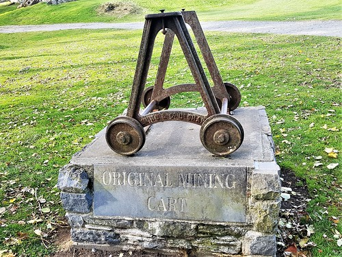 Ireland, Killarney, Ross Castle - mining cart from the Ross Island copper mines
