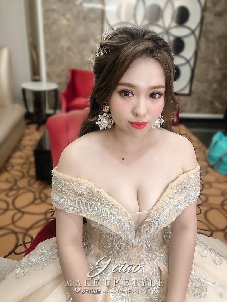 【新秘婕喬】bride苔娟 訂結婚造型 / 華麗韓系甜美風