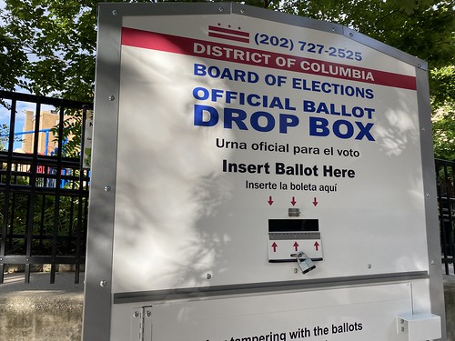 official ballot drop box for the Distric by Joe in DC, on Flickr