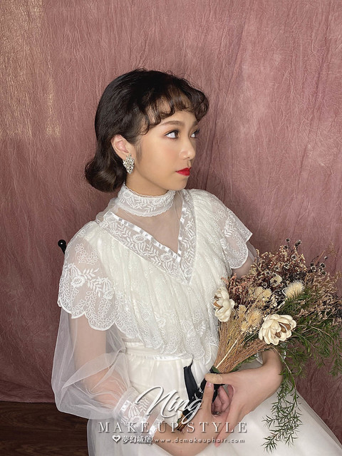【新秘羽寧】新娘造型創作 / 短髮-復古娃娃