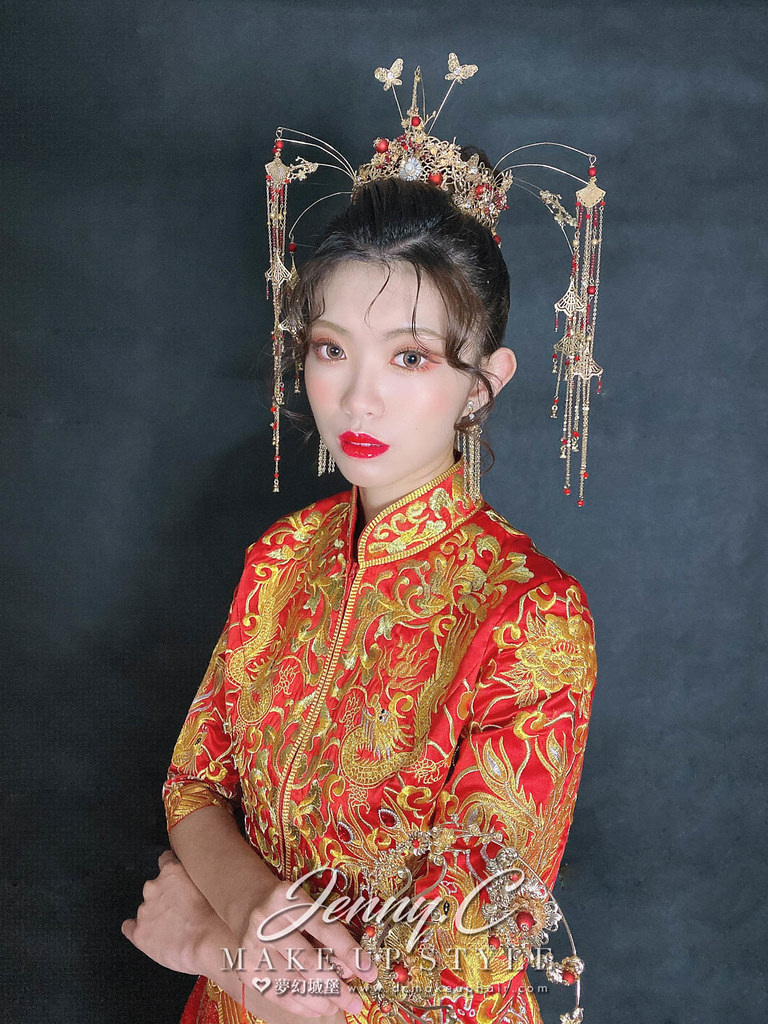 【新秘蓁妮】新娘造型創作 / 中式華麗風