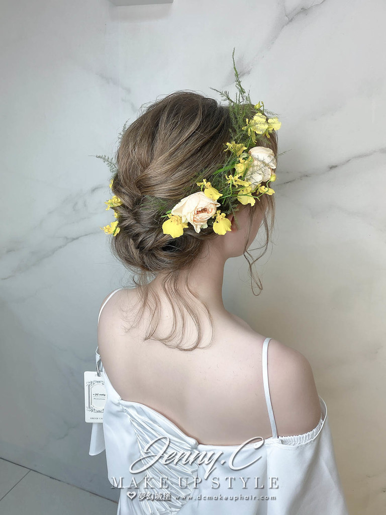 【新秘蓁妮】新娘造型創作 / 鮮花仙女風