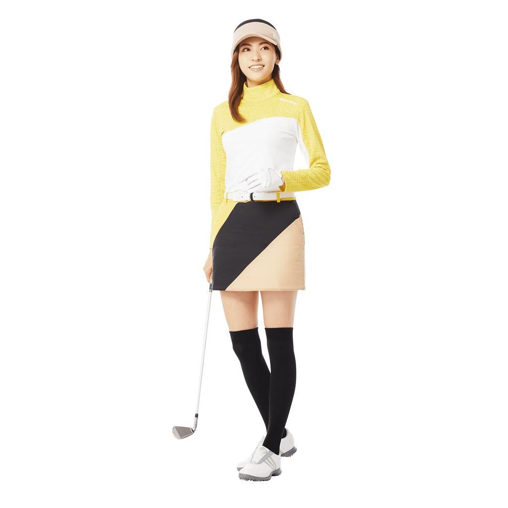 採用彈性伸縮及具保暖功能的布料,擁有防潑水及防風特性的輕質褲裙