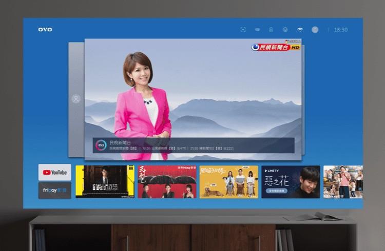 Photo 5- OVO TV OS介面率先將串流電視頻道與OTT內容整合到同一個介面,開機就可看