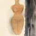 Naked woman showing her breasts, vintage nude illustration. Origin of the Greek Vase (1900–1910) by Auguste Rodin. Original from The MET museum. Digitally enhanced by rawpixel.