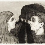 Attraction II (1895) by Edvard Munch. Original from The Art Institute of Chicago. Digitally enhanced by rawpixel. thumbnail