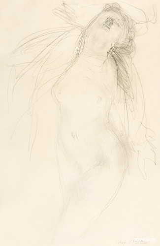 Naked woman in climax, vintage nude illustration. Female nude reclining (1909–1910) by Auguste Rodin. Original from The MET museum. Digitally enhanced by rawpixel.