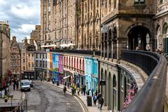 Victoria Street in Edinburgh, Scotland, United Kingdom