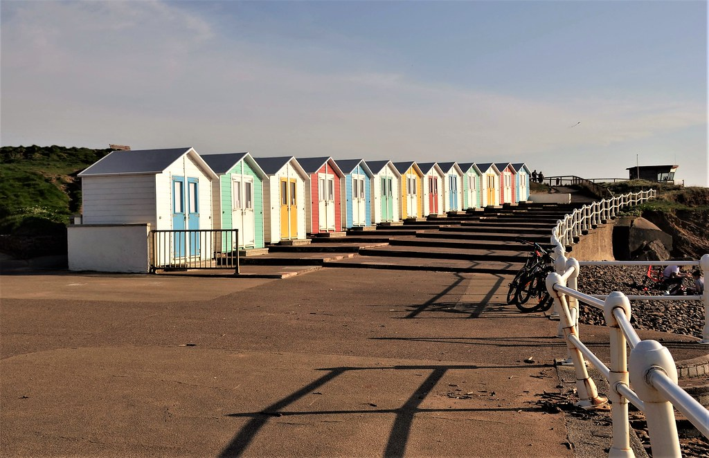 Beach huts on the coast path at Crooklets Beach. Nikon D3100. DSC_0949 (2)
