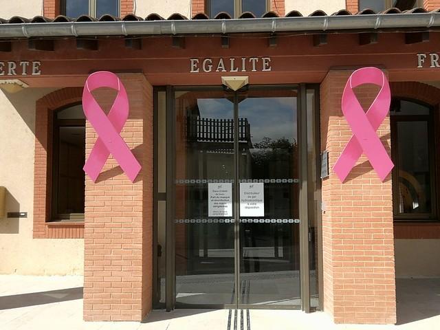 Photo 12 - La mairie toute de rose décorée