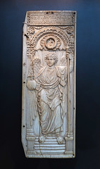 Archangel Michael, Ivory plaque from a diptych