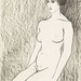 Vintage erotic nude art of a naked woman. Seated Female Nude (1918) by Samuel Jessurun de Mesquita. Original from The Rijksmuseum. Digitally enhanced by rawpixel.