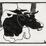 Lying cow (Liggende koe) (c.1900) print in high resolution by Samuel Jessurun de Mesquita. Original from The Rijksmuseum. Digitally enhanced by rawpixel. thumbnail