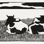 Cows (Koeien) (1916) print in high resolution by Samuel Jessurun de Mesquita. Original from The Rijksmuseum. Digitally enhanced by rawpixel. thumbnail