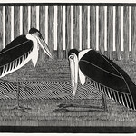 Two maraboos (Twee maraboes) (c.1914) print in high resolution by Samuel Jessurun de Mesquita. Original from The Rijksmuseum. Digitally enhanced by rawpixel. thumbnail