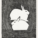 Two snow hares (Twee sneeuwhazen) (1911) print in high resolution by Samuel Jessurun de Mesquita. Original from The Rijksmuseum. Digitally enhanced by rawpixel. thumbnail