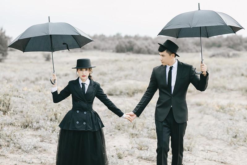 黑色系婚紗