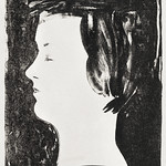 Portrait of a girl (meisjesprofiel) (1920) print in high resolution by Samuel Jessurun de Mesquita. Original from The Rijksmuseum. Digitally enhanced by rawpixel. thumbnail