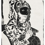 Masked woman with cape (Gemaskerde vrouw met cape) (c.1899) print in high resolution by Samuel Jessurun de Mesquita. Original from The Rijksmuseum. Digitally enhanced by rawpixel. thumbnail