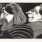 Two male heads (Twee mannenkoppen) (1918) print in high resolution by Samuel Jessurun de Mesquita. Original from The Rijksmuseum. Digitally enhanced by rawpixel. thumbnail