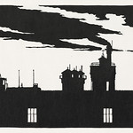 Silhouette Oostergasfabriek (Silhouet Oostergasfabriek) (1915) print in high resolution by Samuel Jessurun de Mesquita. Original from The Rijksmuseum. Digitally enhanced by rawpixel. thumbnail