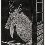 Markhor goat. Sitting deer in a cage. (Markhorgeit. Zittend hert in een kooi) (1913) print in high resolution by Samuel Jessurun de Mesquita. Original from The Rijksmuseum. Digitally enhanced by rawpixel. thumbnail