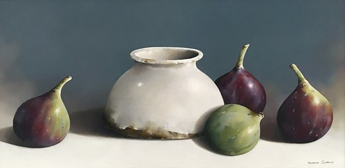SusanCairns The Fig Bowl Image Size16x8 Oil on Board Not for Sale