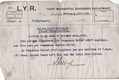 Photo of Power House 1916 Notice Allowed 7 Days Annual Leave Donated By Leon 02