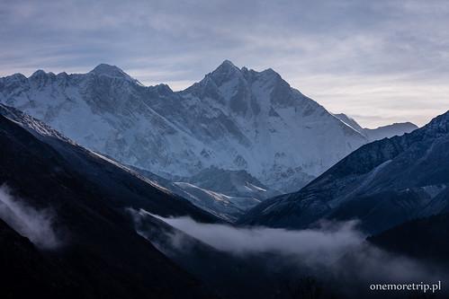Mount Everest 8848m i Lhotse 8516m