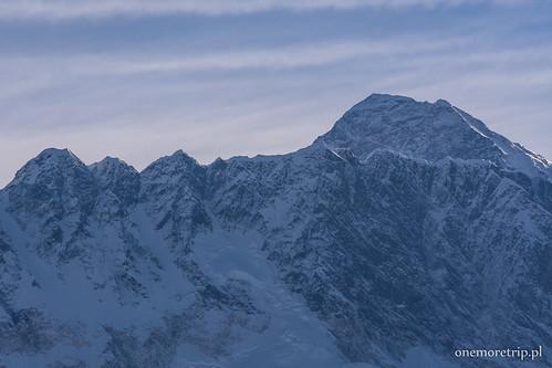 Nuptse 7861m i Mount Everest 8848m