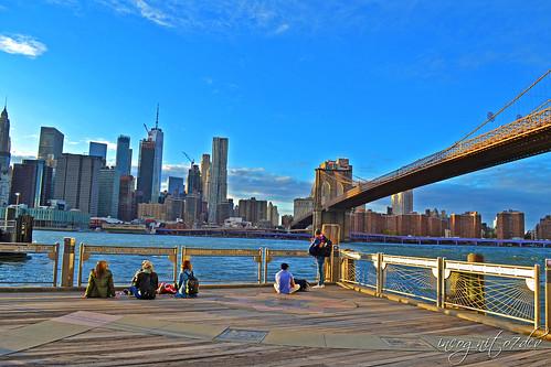Brooklyn Bridge & Lower Manhattan View from Brooklyn Bridge Park Brooklyn New York City NY P00676 DSC_0055