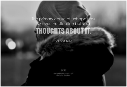 Eckhart Tolle The primary cause of unhappiness is never the situation but your thoughts about it.