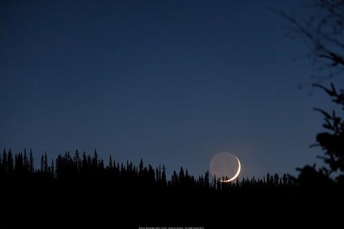 Waxing Crescent Moon Setting