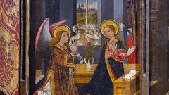 Morata Master, Virgin and Child Enthroned with Scenes from the Life of the Virgin