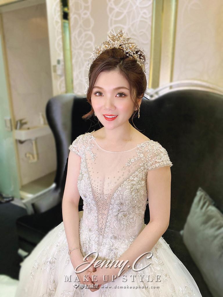 【新秘蓁妮】bride 白白 訂結婚造型 / 華麗復古風