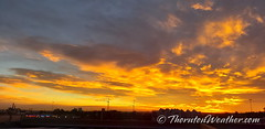 October 14, 2020 - A stunning sunrise as seen from north Denver. (ThorntonWeather.com)